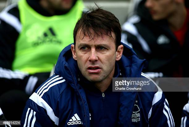 Nottingham Forest manager Dougie Freedman during the Sky Bet Championship match between Brighton Hove Albion and Nottingham Forest at The Amex...
