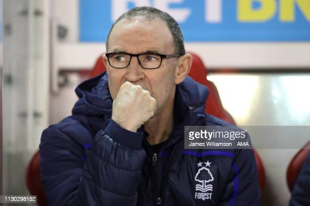 Nottingham Forest manager \ head coach Martin ONeill during the Sky Bet Championship match between Nottingham Forest and Aston Villa at City Ground...