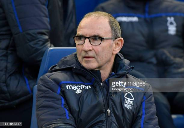 Nottingham Forest manager Martin O'Neill looks on prior to the Sky Bet Championship match between Sheffield Wednesday and Nottingham Forest at...