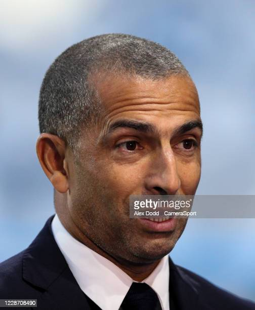 Nottingham Forest manager Sabri Lamouchi talks to Sky Sports before the game during the Sky Bet Championship match between Huddersfield Town and...