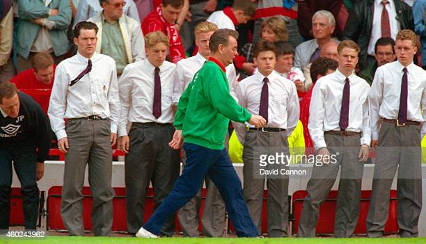 Nottingham Forest mananger Brian Clough leaves the field for the last time as Forest mananger after a 2-0 defeat by Sheffield United condemned Forest...