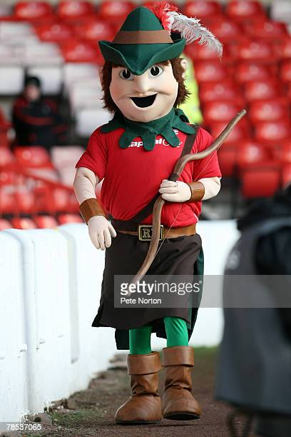 Nottingham Forest mascot Robin Hood during the Coca Cola League One Match between Nottingham Forest and Northampton Town at The City Ground on...