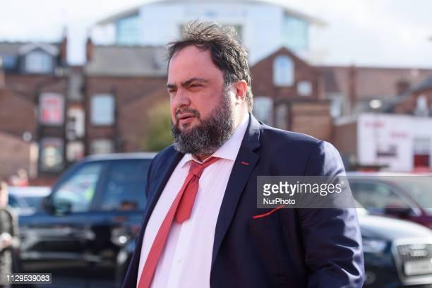 Nottingham forest owner Evangelos Marinakis arrivers during the Sky Bet Championship match between Nottingham Forest and Hull City at the City Ground...