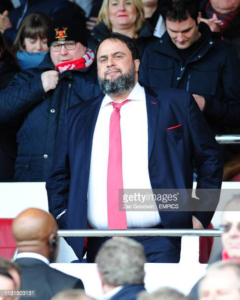 Nottingham Forest owner Evangelos Marinakis in the stand before the game Nottingham Forest v Hull City Sky Bet Championship City Ground