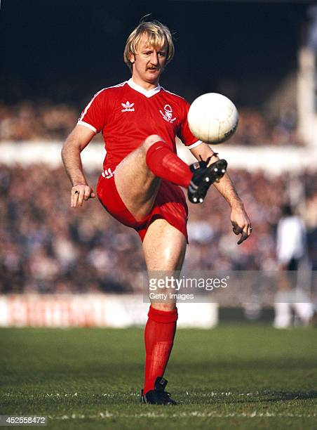 Nottingham Forest player Kenny Burns in action before a First Division match between Tottenham Hotspur and Nottingham Forest circa 1979 Burns was...