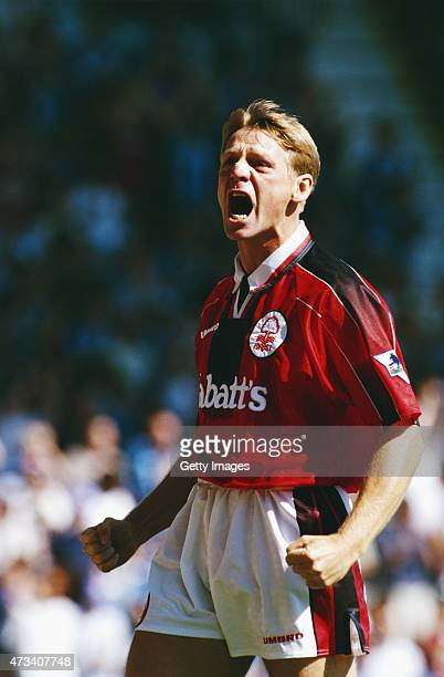 Nottingham Forest player Stuart Pearce reacts during a Premier League match between Coventry City and Nottingham Forest at Highfield Road on August...