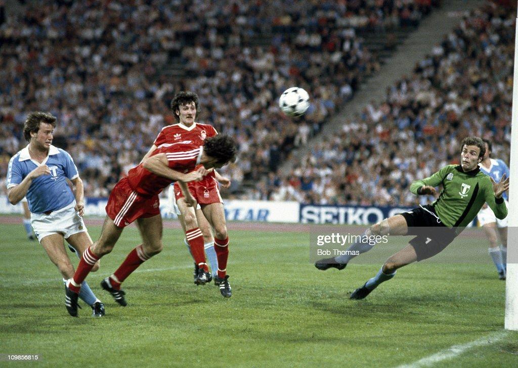 European Cup Final -  Winning Goal  -  Nottingham Forest v Malmo : News Photo