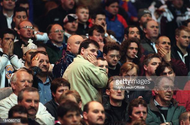 Nottingham Forest v Newcastle United - Premiership Football, Newcastle fans look upset as their chance for the title slips away.
