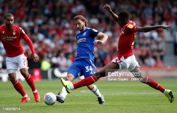 Nottingham Forest's Alfa Semedo challenges Birmingham City's Ivan Sunjic Nottingham Forest v Birmingham City Sky Bet Championship City Ground