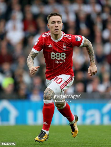 Nottingham Forest's Barrie McKay during the Sky Bet Championship match between Derby County and Nottingham Forest at the Pride Park Stadium on...