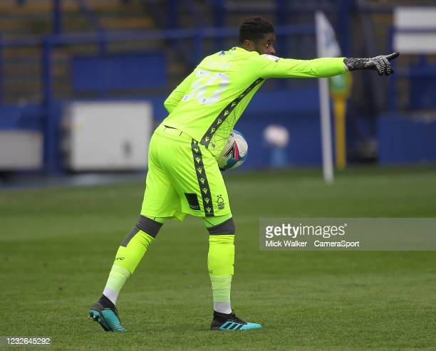 Nottingham Forest's Brice Samba during the Sky Bet Championship match between Sheffield Wednesday and Nottingham Forest at Hillsborough Stadium on...