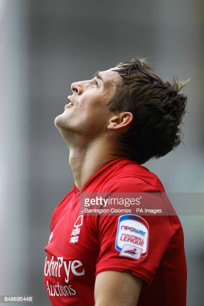 Nottingham Forest's Chris Cohen looks up in dejection at the end of the game during the npower Football League Championship match at the City Ground...