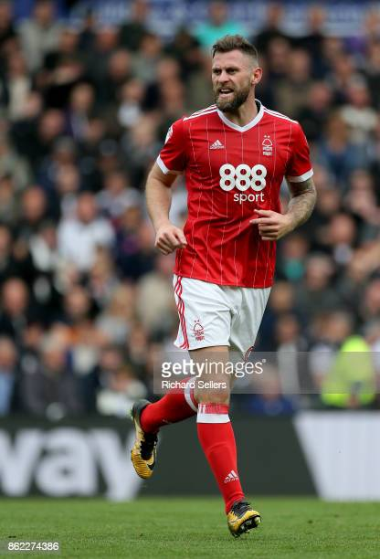 Nottingham Forest's Daryl Murphy during the Sky Bet Championship match between Derby County and Nottingham Forest at the Pride Park Stadium on...