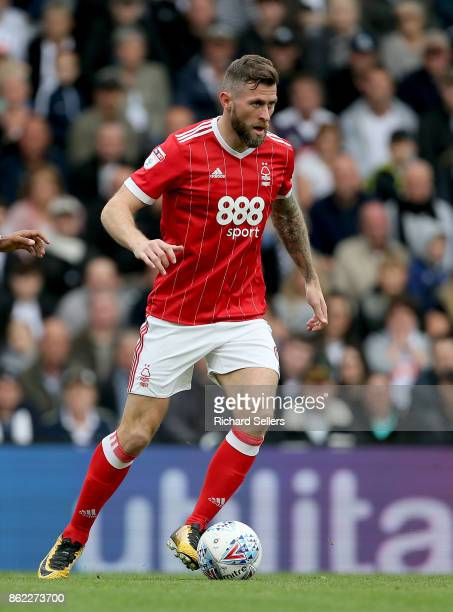 Nottingham Forest's Daryl Murphy in action during the Sky Bet Championship match between Derby County and Nottingham Forest at the Pride Park Stadium...