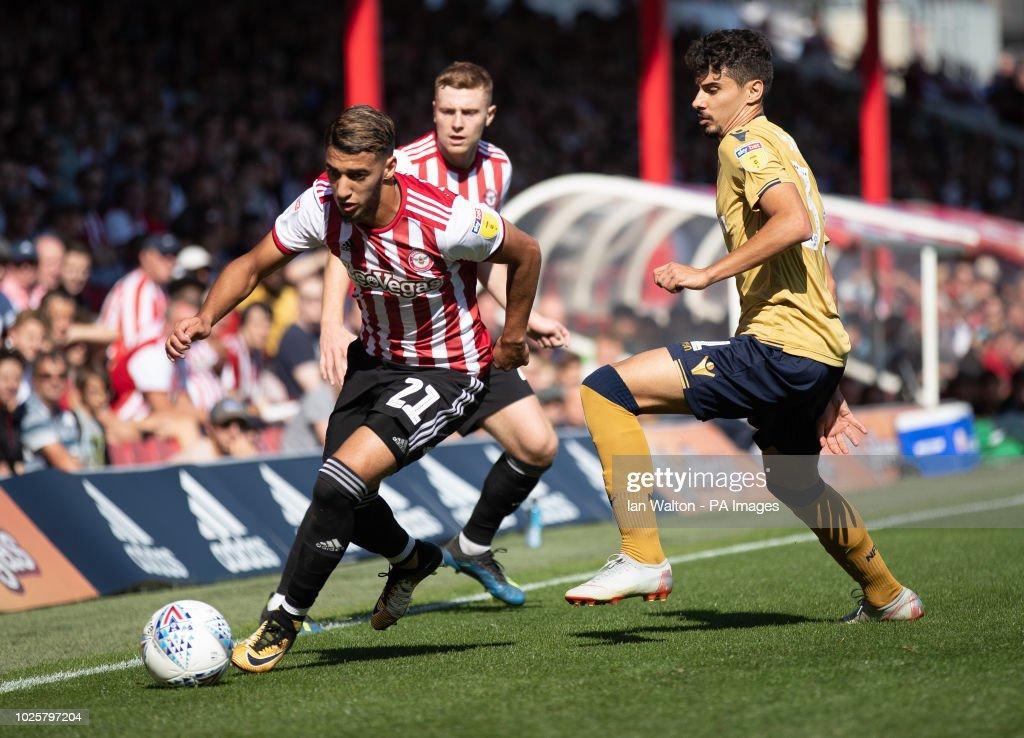 Brentford v Nottingham Forest - Sky Bet Championship - Griffin Park : News Photo