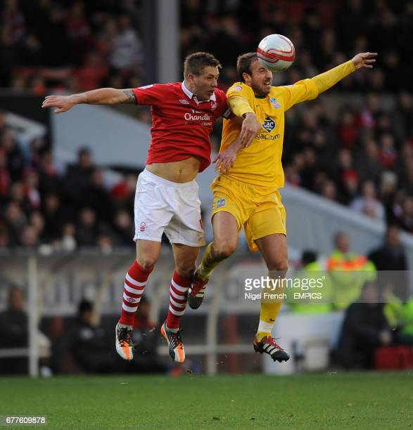 Nottingham Forest's Luke Chambers and Crystal Palace's Glenn Murray