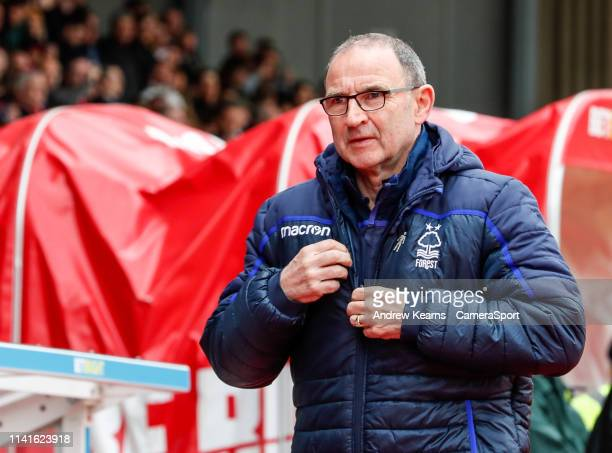 Nottingham Forest's manager Martin O'Neill during the Sky Bet Championship match between Nottingham Forest and Bolton Wanderers at City Ground on May...