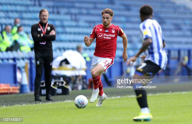 Nottingham Forest's Matty Cash during the Sky Bet Championship match between Sheffield Wednesday and Nottingham Forest at Hillsborough Stadium on...