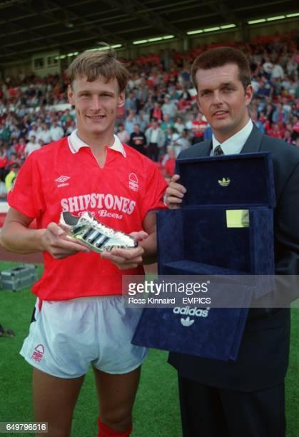 Nottingham Forest's Teddy Sheringham receives the Shoot/Adidas Golden Boot Award