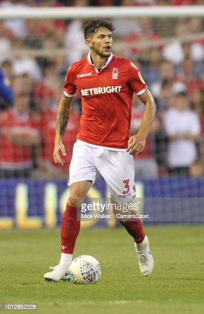 Nottingham Forest's Tobias Figueiredo during the Sky Bet Championship match between Nottingham Forest and West Bromwich Albion at City Ground on...