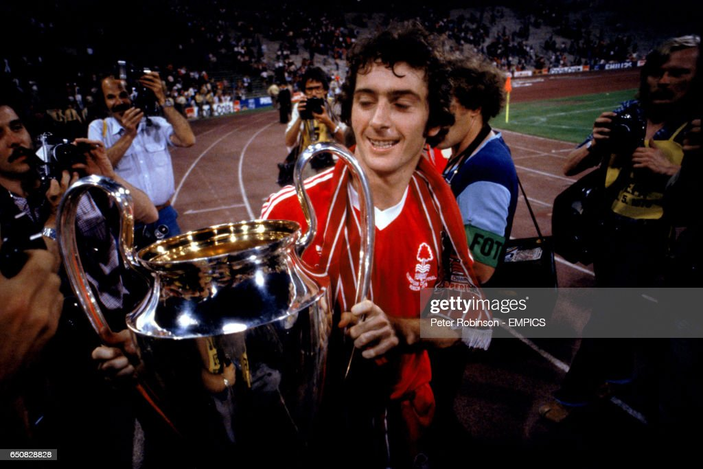 Nottingham Forest's Trevor Francis, scorer of the winning goal, takes a closer look at the European Cup