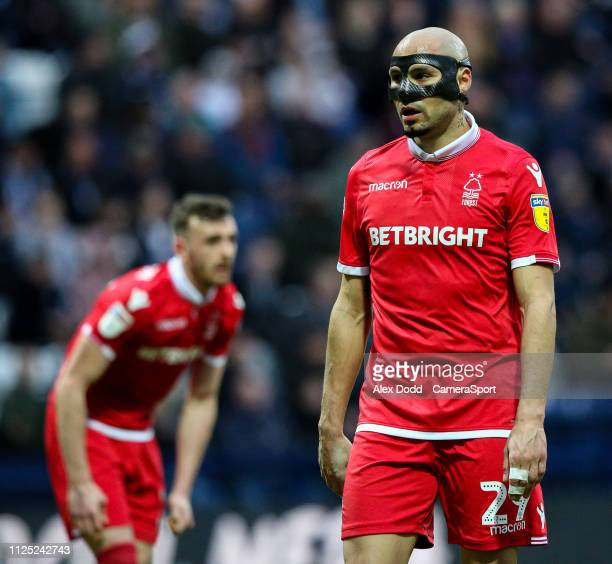 Nottingham Forest's Yohan Benalouane during the Sky Bet Championship match between Preston North End and Nottingham Forest at Deepdale on February 16...
