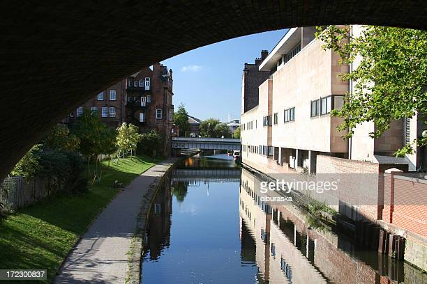 nottingham under the bridge - nottingham stock pictures, royalty-free photos & images