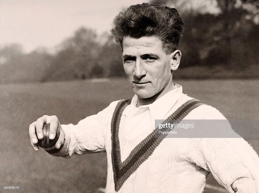 Nottinghamshire and England cricketer Harold Larwood, circa 1928.