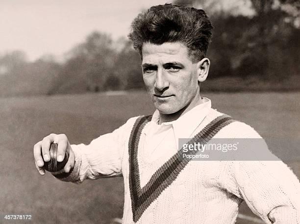 Nottinghamshire and England cricketer Harold Larwood circa 1928