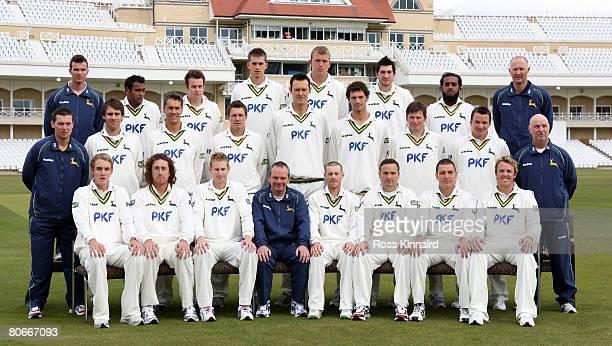 Nottinghamshire CCC Back row L/R Kevin PaxtonStrength and Conditioning Coach Samit Patel Rob FerleyAlex HalesLuke FletcherMark Footitt Bilal Shafayat...