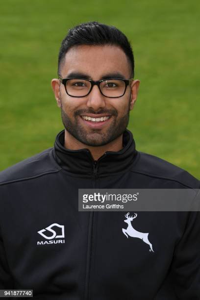 Nottinghamshire County Cricket Club Performance Analyst Kunal Manek poses for a portrait during the Nottinghamshire CCC Photocall at Trent Bridge on...