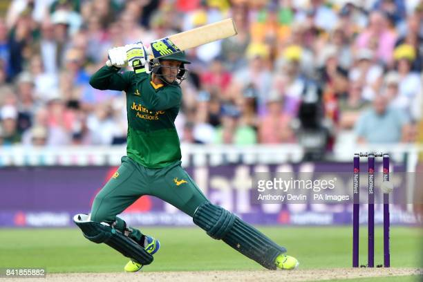 Nottinghamshire's Billy Root bats during the NatWest T20 Blast Finals Day at Edgbaston Birmingham