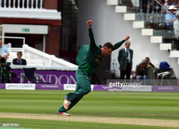 Nottinghamshire's Steven Mullaney celebrates the catch of Surrey's Kumar Sangakkara by Nottinghamshire's Chris Read during the Royal London OneDay...