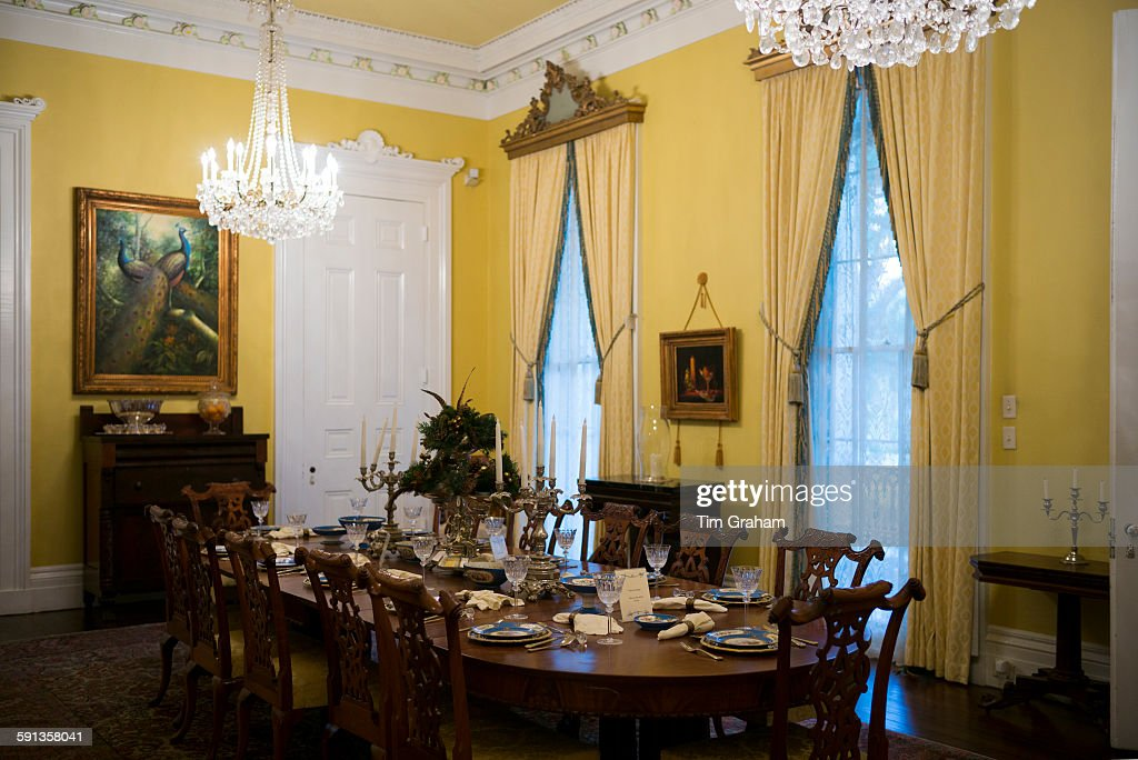 Nottoway Plantation 19th Century Antebellum Mansion Dining Room With Foto Jornalística Getty Images