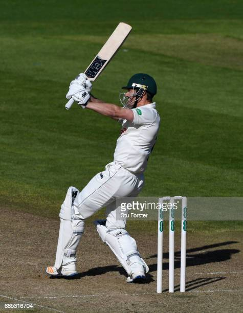 Notts batsman Chris Read hits out during Day One of the Specsavers County Championship Divsion Two match between Glamorgan and Nottinghamshire at...