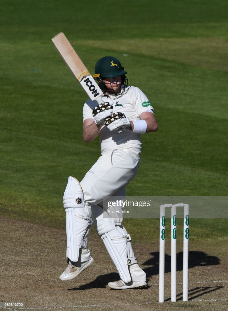 Notts batsman Riki Wessels in action during Day One of the Specsavers County Championship Divsion Two match between Glamorgan and Nottinghamshire at SWALEC Stadium on May 19, 2017 in Cardiff, Wales.