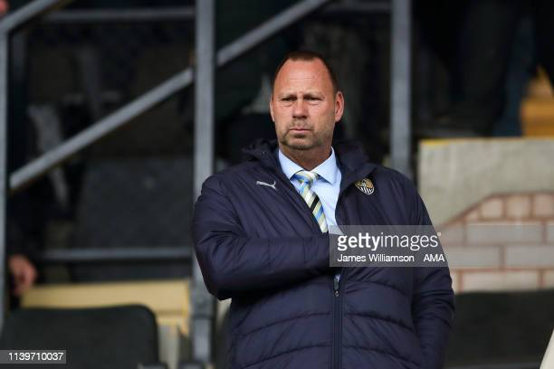 Notts County chairman Alan Hardy during the Sky Bet League Two match between Notts County and Grimsby Town at Meadow Lane on April 27 2019 in...