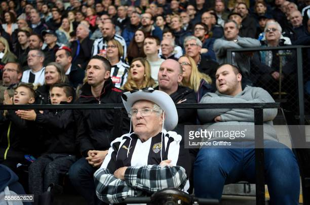 Notts County fan looks on during the Sky Bet League Two match between Notts County and Forest Green Rovers at Meadow Lane on October 7 2017 in...
