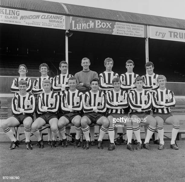 Notts County FC, group photo, UK, 11th August 1967.