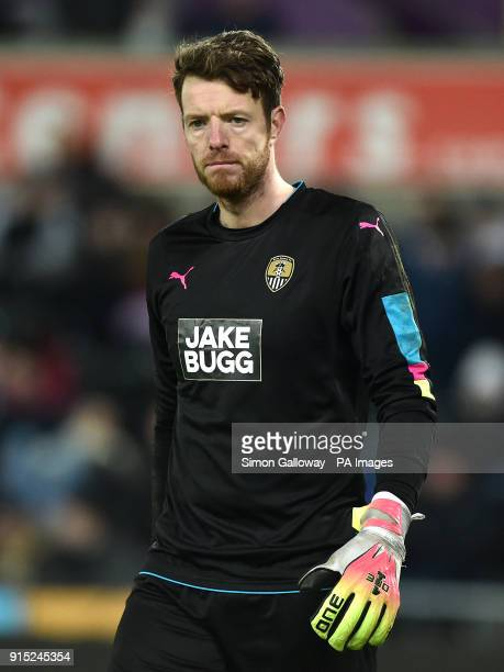 Notts County goalkeeper Adam Collin during the Emirates FA Cup fourth round replay match at the Liberty Stadium Swansea PRESS ASSOCIATION Photo...