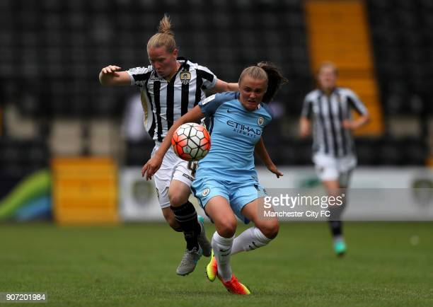 Notts County Ladies v Manchester City Women FA Womens Super League Meadow Lane Manchester City's Georgia Stanway and Notts County's Dani Buet battle...