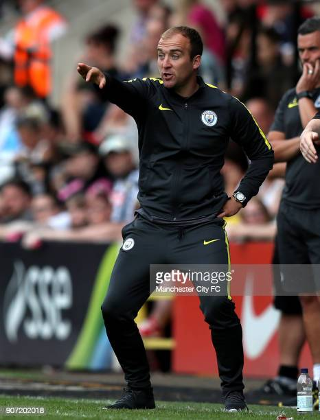 Notts County Ladies v Manchester City Women FA Womens Super League Meadow Lane Manchester City manager Nick Cushing gestures on the touchline
