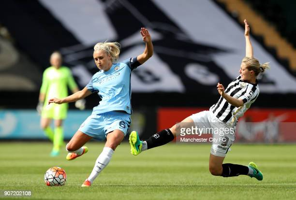 Notts County Ladies v Manchester City Women FA Womens Super League Meadow Lane Manchester City's Steph Houghton and Notts County's Ellen White battle...