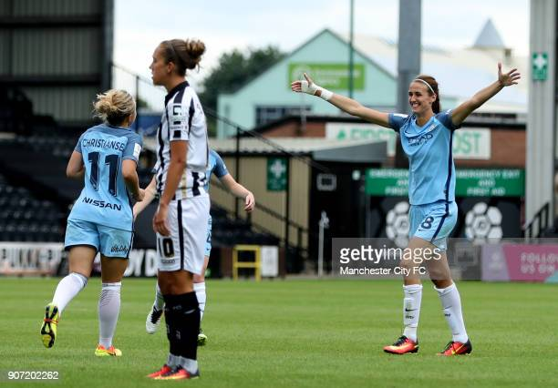 Notts County Ladies v Manchester City Women FA Womens Super League Meadow Lane Manchester City's Izzy Christiansen celebrates scoring her sides fifth...