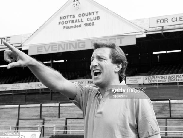 Notts County manager Neil Warnock at Meadow Lane in Nottingham England circa 1993