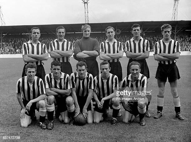Notts County Team Group Henry Adamson Aubrey Southwell James Linton Raymond Chatham Frank Cruikshank and John McGrath Donald Roby John Taylor John...