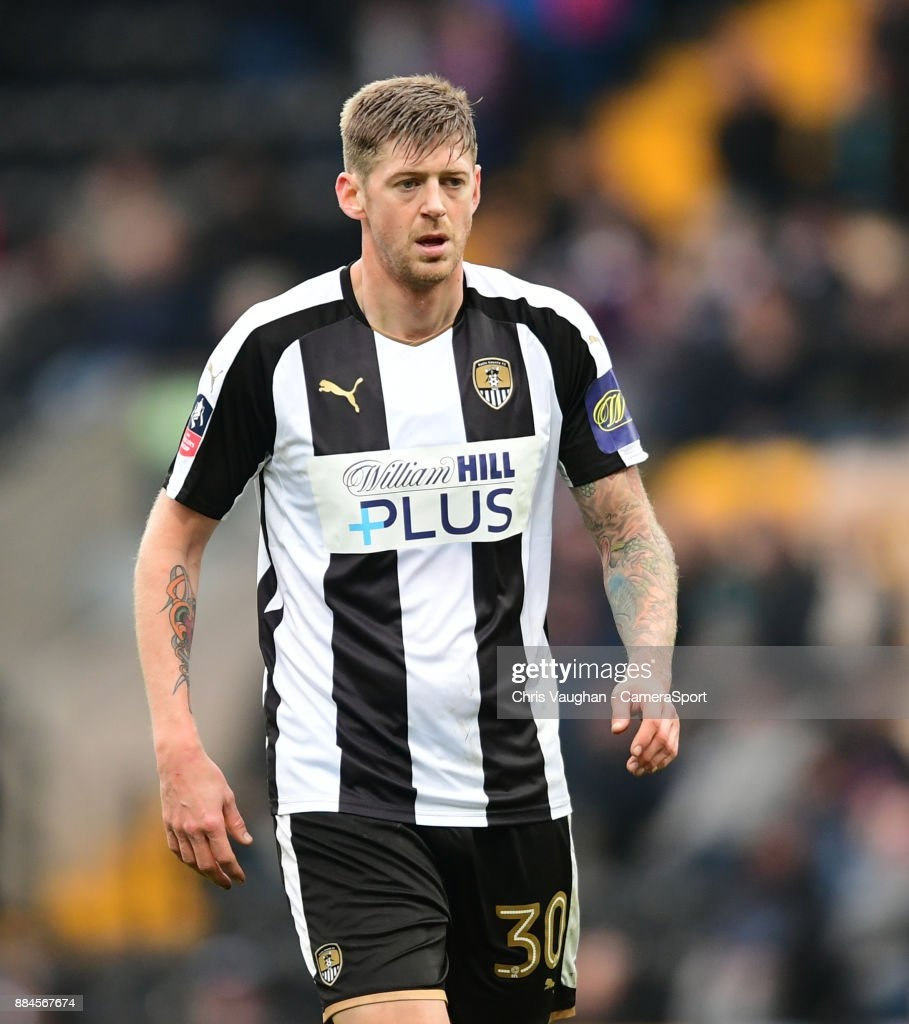 Notts County's Jonathan Stead during the Emirates FA Cup Second Round match between Notts County and Oxford City at Meadow Lane on December 2, 2017 in Nottingham, England.