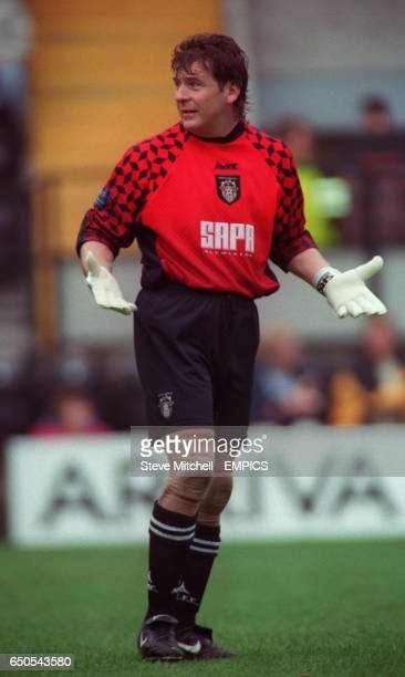 Notts County's on loan goalkeeper Andy Goram during the game against Wigan Athletic