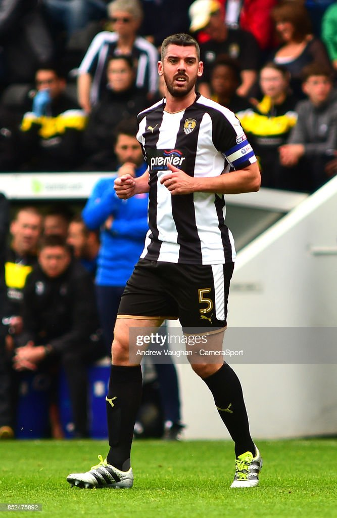 Notts County's Richard Duffy during the Sky Bet League Two match between Notts County and Lincoln City at Meadow Lane on September 23, 2017 in Nottingham, England.