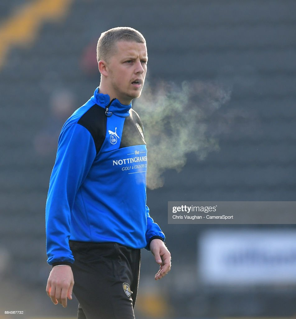 Notts County's Terry Hawkridge during the pre-match warm-up prior to the Emirates FA Cup Second Round match between Notts County and Oxford City at Meadow Lane on December 2, 2017 in Nottingham, England.